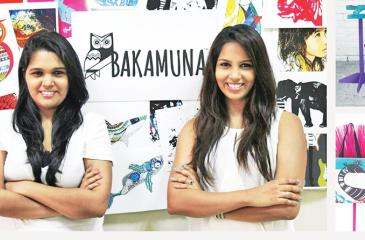 From left: MTI Venture Manager for Bakamuna Malithi Herath and Bakamuna Chief/CEO Rochelle Bibile