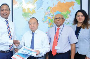From left: CEO/Secretary General, NCE, Shiham Marikar, CEO, CICT, Jack Huang, Chief Business Development Officer, CICT, Tissa Wickramasinghe and Assistant General Manager, Commercial and Marketing, CICT, Catriona Jayasundera.