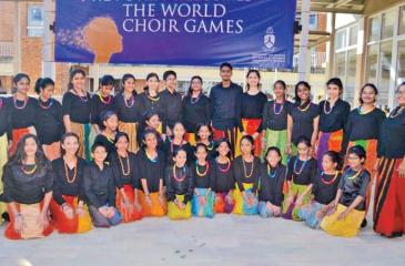 The winning children's choir team