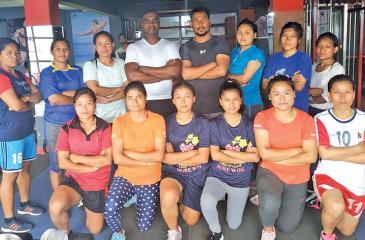Radhika Hettiarachchi is seen here with the Nepal National players