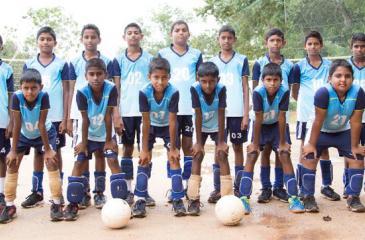 The champion St. Mary's College Veyangoda squad: Front row from left:  Kaveesha Ranketh, Vidhura Dheneth, Manuja Sathsara, Janindhu Theekshana, Pathmika Bhashvara, Aruna Pabasara, Hesandhu Savanjith and Ranindhu Dheshan. Back row from left: Kaveesha Nimsara, Sanjana Nuwantha, Senura Dhamsara, Rashmika Shehan, Kasun Sandheepa, Aadhitha Kalana, Anuhas Bandara, Chamodh Kalhara and Yalan Sasindhu