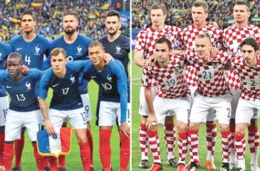 France team members and Croatia team members