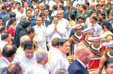 President Maithripala Sirisena at the launch of the 'National Sustainability Discourse' held at the BMICH. Picture by President's Media.