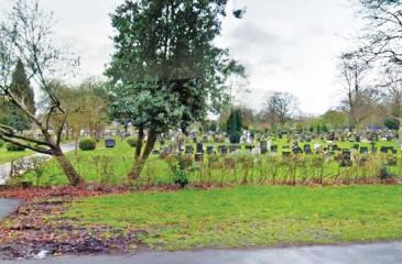 A father said he has been mourning for his daughter at the wrong grave for 30 years at Southern Cemetery in Manchester.  (Google Earth images)