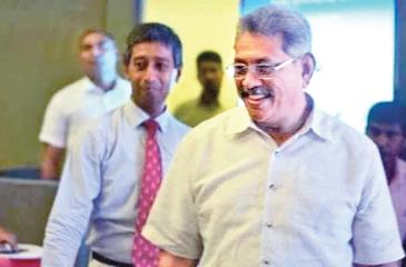 Dr. Anuruddha Padeniya, President , GMOA and former Defence Secretary, Gotabaya Rajapaksa