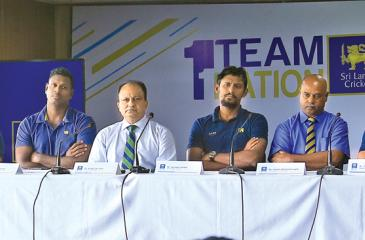 The many moods of professional sportsmen as well as administrators can also vary from situation to situation on the field as well as off it. Here Sri Lanka's cricketers, officials and coach sport contrasting moods at a Press conference to mark the end of the South Africa-Sri Lanka home series. From left: Chandika Hathurusinghe (coach), Angelo Mathews (captain), Ashley de Silva (CEO), Suranga Lakmal (vice captain), Gamini Wickremasinghe (selector) and Charith Senanayake (manager)