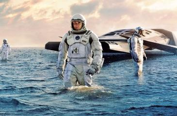 The water world scene from Interstellar