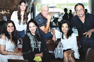 The team behind Threads of Time L –R seated: Anita, Kavita, Anusha, standing L – R : Merisha, Brian and Imran