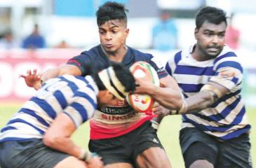 File photo shows an inter-club match between League winners Kandy and runner-up Navy played to empty stands last season