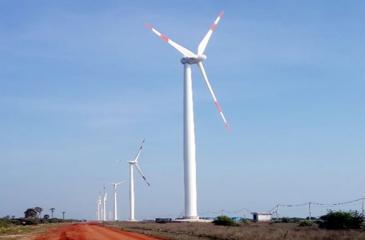 A wind turbine