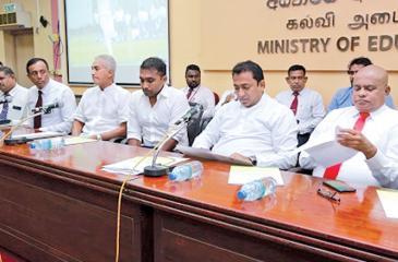 Education Minister Akila Viraj Kariyawasam at the launch of training program