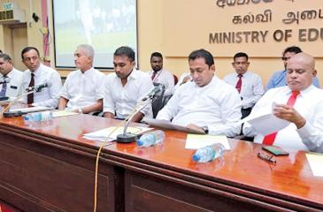 Education Minister Akila Viraj Kariyawasam at the launch of training program
