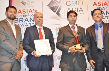 Bank of Ceylon officials with the awards