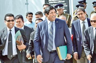 Former Minister Ravi Karunanayake during an appearance at the Presidential Commission of Inquiry on the Treasury Bond issue (File photo)