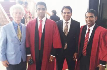 Dr. Jim Garrison-Founder and CEO, Ubiquity University, Dr. Dayan Rajapakse - Chairman/Managing Director, ESOFT, Ravi Jayawardena - Group Chief Executive Officer, Maliban Biscuit Manufactories (Pvt) Ltd and Dilan Perera - Chief Operating Officer, ESOFT-Colombo