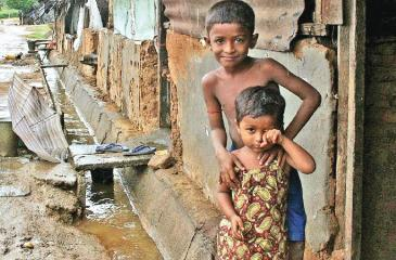 Living conditions in 'line rooms' in the plantations have always been poor Pic.Courtesy:IRIN NEWS