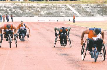 Some of the Para athletes in action