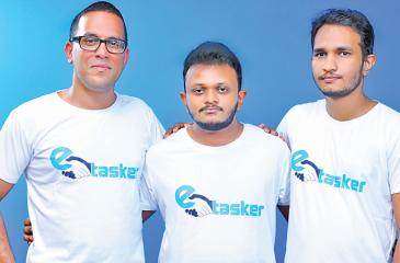 These three young professionals, Rakkitha Kumarage, Isuru Gihan and Udara Dilhan have created a task platform called Etasker – which they think is a 'step forward in advancing the labour and services exchange market'.
