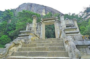 AWE-INSPIRING SYMMETRY: The rock of Yapahuva– picture taken from an unusual angle