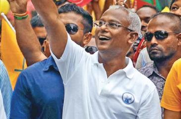The jubilant  Ibrahim Mohamed Solih