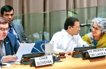 President Sirisena as Chief Guest at the Confence on Drug Abuse, NCD's and Sustainable Development