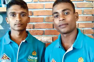 Asanka Nilaweera (left) and Suresh Kelum two athletes who will contest the Laser Run World Championship