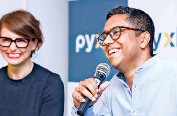Hayley Evans, President, Tavistock Group Australasia and Presantha Jayamaha, Founder and Director, Pyxle