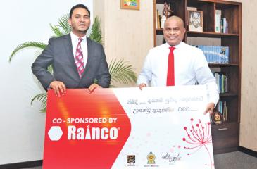 Ahmed Aroos, Chief Operating Officer of Rainco (left) with Sunil Hettiarachchi, Secretary, Ministry of Education