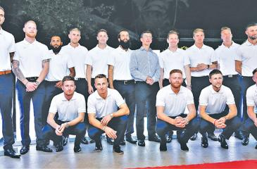 The England ODI cricket squad poses with British High Commissioner in Sri Lanka James Dauris at a function held at Westminster House in Colombo. The squad comprises Eoin Morgan (captain), Joe Root, Jos Buttler, Jonny Bairstow, Moeen Ali, Sam Curran, Tom Curran, Liam Dawson, Alex Hales, Liam Plunkett, Adil Rashid, Jason Roy, Ben Stokes, Chris Woakes, Mark Wood and Olly Stone   (Picture by Herbert Perera)