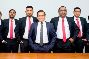 From left: FMI team including Manager H. L. Dharmasena, Senior Manager Facilities S. Dhavalozhan, Assistant Manager New Technologies D. D. Rukshan Perera, Director Manish Shrivastava, Deputy Manager W. Anura, Accountant P. P. Abeydeera, Assistant Manager Corporate Support Services L. A. W. Mohotti.
