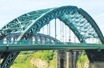 Wearmouth Bridge in Sunderland, England