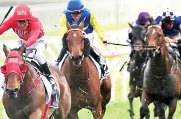 Redzel(left) with Kerrin McEvoy rides to victory