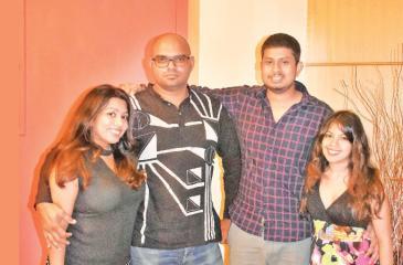 Danushki and Keith Ranasignhe, Isura Gunarathna and Dilusha Weerasinghe