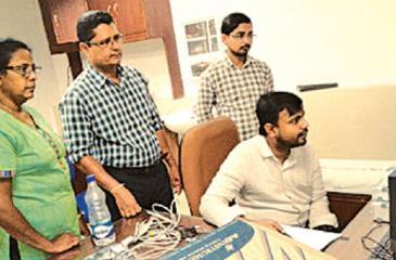 Janaki Ariyawansa and RAG Ratnayake at the All India Institute of Medicine