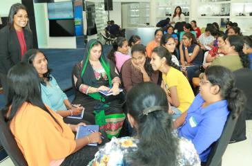The 'WomenWill' workshop in progress