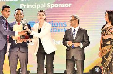 Senior Executive Vice President Nations Trust Bank Bandara Jayathileke(Second from right) joined the Awards Ceremony representing Nations Trust Bank, principle sponsor of the Annual NCE Export Awards.