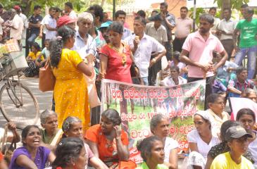File picture of a protest by plantation workers. - Lake House Media Library