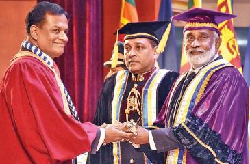 Rear Admiral Shemal Fernando receives his doctorate