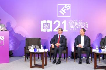 From left: Managing Director and Vice President Sales, IFS South Asia, Shiraz Lye (standing), President, IFS Asia-Pacific, Middle East and Africa, Stephen Keys, Senior Vice President, Research and Development, Thomas Säld and Senior Vice President and Head of World Operations, Sri Lanka, Ranil Rajapaksa.