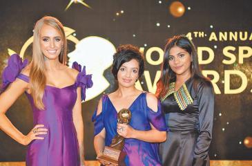 Company representatives with the award