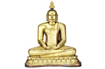 An 18th-century seated Buddha statue from Sri Lanka.           Pic: Museum Associates/LACMA