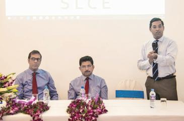 Seated left: Murtaza Esufally - Managing Director of Morison, Chief Guest Dr. Anil Jasinghe – Director General of Health Services and Manilka Sumanatilake – Consultant Endocrinologist/President – Sri Lanka College of Endocrinologist