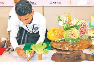 A practical session on culinary art