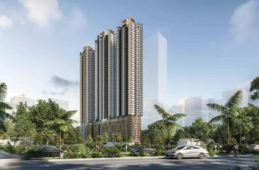 An artist's impression of the 53-storeyed development