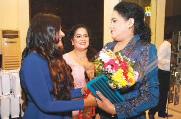 Actress Kusum Renu arrives for the ceremony