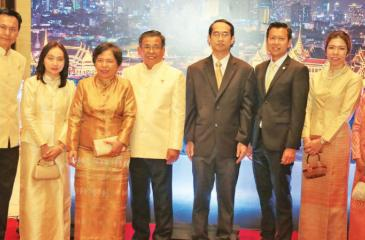 The Ambassador and the Thai Embassy officials