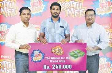 Grand prize winner  R.W.W.U.P. Rajapakse