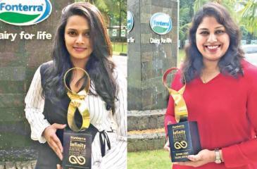 Emerging Leader Award winner Shehani Liyanage and Inspiring Leader Award winner Thilanka Jayathilake
