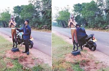 Ridiculing public officials is how some folks cope with the tragi-comedy  of every day life. The last thing we should do is to arrest people for  expressing themselves humorously. Pic: Courtesy Aththa Withthi