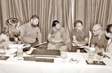 The discussion in progress